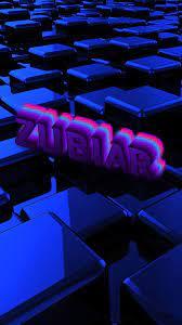 Zubiar as a ART Name Wallpaper!