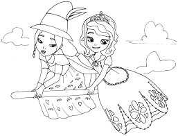 Sofia The First Coloring Pages And Lucinda Coloringstar