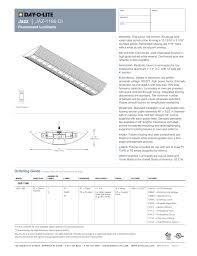 Dayolite Lighting Specification Sheet Day O Lite