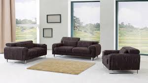 cheap modern furniture with brown sofa with cushion and carpet and white floor and window