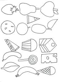 Very Hungry Caterpillar Coloring Pages Page The Food Artigianelliinfo