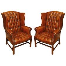 wonderful tufted leather wingback chair with 424 best images about regard to plan 15