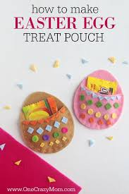 diy easter treat pouch easy easter egg craft