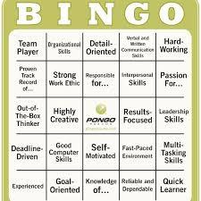 Pongo Resume Interesting Resume Buzzword Bingo Pongo Blog Regarding Buzzwords For Resumes