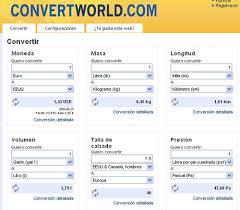 Convierte cualquier unidad en otras unidades similares     Ind  mita Blog Ind  mita Pero ConvertWorld com no solo se centra en el cambio de divisas  sino en cualquier otro tipo de unidades y medidas  ya sean de presi  n  formatos de papel