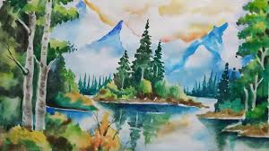 how to draw natural scenery easily watercolour scenery for beginners