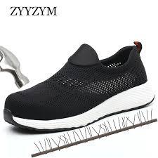 <b>ZYYZYM Men</b> Working Safety <b>Boots</b> Steel Toe <b>Shoes Men</b> Summer ...