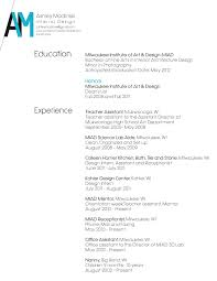 resume layout   ashley modlinskiimage
