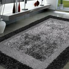 5 x 7 6 handmade modern area rug gray black contemporary