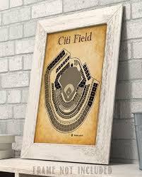 Citi Field Baseball Stadium Seating Chart Art Art Print