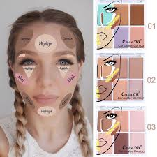 professional cream cmaadu contour palette concealer palette contouring makeup cosmetic care cream palette dhl 3001332 best highlighter makeup body
