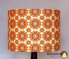 lamp shades design retro lamp shade willow bird brighten up your life orange flower decor with white colours combination and brown bottom stick ideas