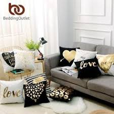 <b>BeddingOutlet Bronzing Christmas Cushion</b> Cover Gold Printed ...