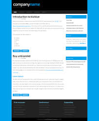bizblue html and css website template web templates bizblue css template by zypop