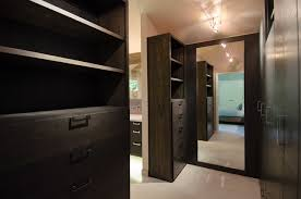 master bedroom with bathroom and walk in closet. Master Bedroom Walk Through Closet Custom Cabinetry Contemporary-closet With Bathroom And In
