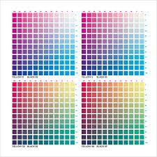 Yellow Cmyk Color Chart Cmyk Color Chart Download