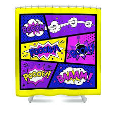 comic book shower curtain comic book shower curtain featuring the digital art girly comic book art by comic book shower curtains