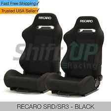 recaro srd sr3 black pair reclinable racing seats cloth fabric bride w slider honda recaro seat office