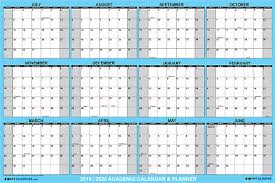 2019 2020 Academic Dry Erase Wall Calendar Yearly Planner Classic Blue 32x48 Ebay