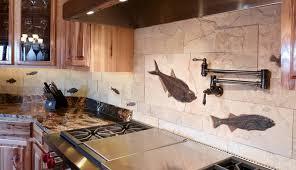 fossil stone tile backsplash 1
