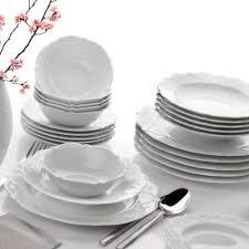 Porland Queen Beyaz 24 Parça 6 Kişilik Yemek Takımı - Alkapida.com
