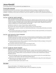 Construction Resume Examples Extraordinary Resume Examples For Construction Foreman With Construction Foreman