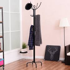 Metal Coat Rack Tree Costway Rakuten Costway 100'' Metal Coat Rack Free Standing Tree 99