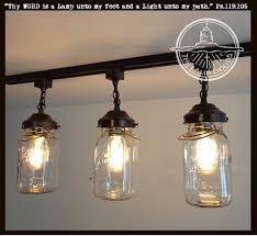 jar pendant lighting. A Mason Jar TRACK LIGHT Of 3 Vintage Quarts Pendant Lighting L