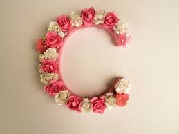 gorgeous wall ideas custom name letter flower wall decor