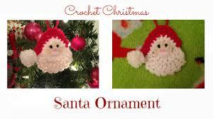 Crochet Decoration Patterns Crochet Christmas Santa Ornament Tutorial Youtube