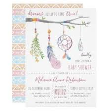 Dream Catcher Baby Shower Invitations Feather Baby Shower Invitations BabyShowerInvitations100U 54