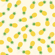 Pineapple Pattern Delectable Seamless Pineapple Pattern Cute Pineapple Doodle Pattern For