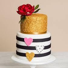 Flowers Hearts Birthday Cake