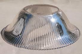 vintage holophane glass lampshade replacement shade for antique lamp or hanging light