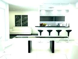 kitchen floating breakfast bar against wall table minimalist counter the narrow small mounted unit modern ikea