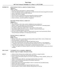 Instructional Assistant Resume Samples Velvet Jobs