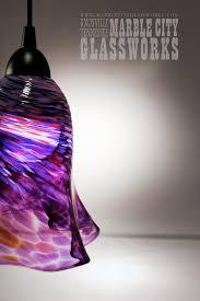 large ruffled pendant light hand blown glass unique lighting