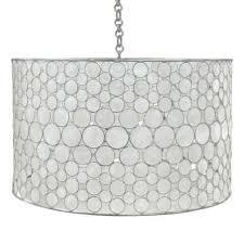 oly studio serena drum chandelier stainless candelabra inc throughout white drum chandelier