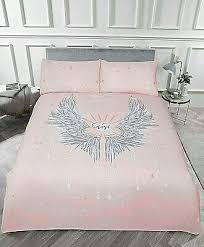 angel wings stars glitter duvet cover