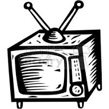 tv clipart black and white. royalty-free black white tv 382927 vector clip art image - eps, svg, pdf illustration | graphicsfactory.com clipart and