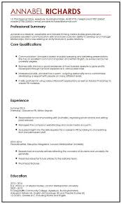 example of a written cv application cv example for university students myperfectcv