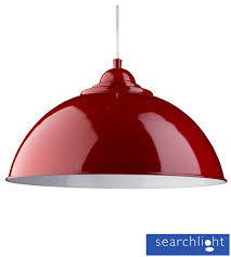red pendant lighting. searchlight u0027sanfordu0027 half dome ceiling pendant light red with white inner 8140re lighting n