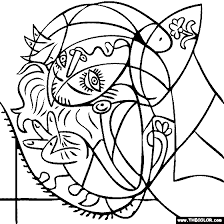 Small Picture 100 free coloring page of Pablo Picasso painting Girl on a