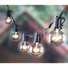 25FT Outdoor G40 Globe String Lights, Vintage Backyard Patio Lights with 25  Clear Bulbs,