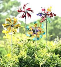 outdoor wind spinners garden metal