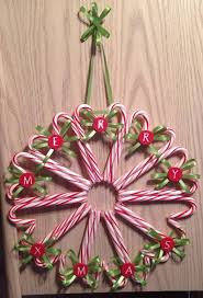 Peppermint And Candy Cane Wreath  Sweet PeaCandy Cane Wreath Christmas Craft