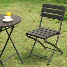 outdoor folding dining chairs. Plain Outdoor Danielson BistroStyle Folding Patio Dining Chair Set Of 2 Inside Outdoor Chairs N
