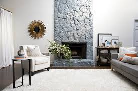 a simple guide to painting a stone fireplace