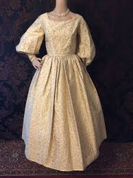 Image result for GOLD DAMASK GOWN
