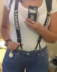 chanel suspenders. {chanel black and white suspenders} | { chanel } pinterest suspenders, suspenders